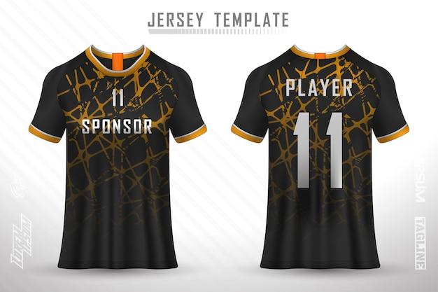 フロントバックtシャツデザインサッカーレースサイクリングゲーミングジャージベクトルのスポーツデザイン