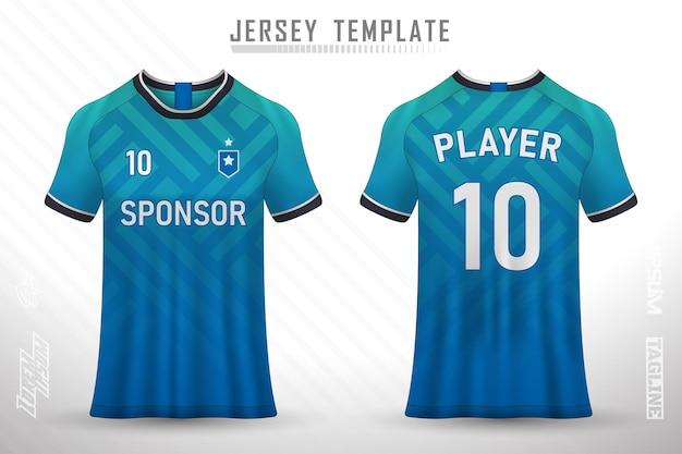 Дизайн футболки спереди сзади спортивный дизайн для футбольных гонок, велоспорта, игрового трикотажа, вектор