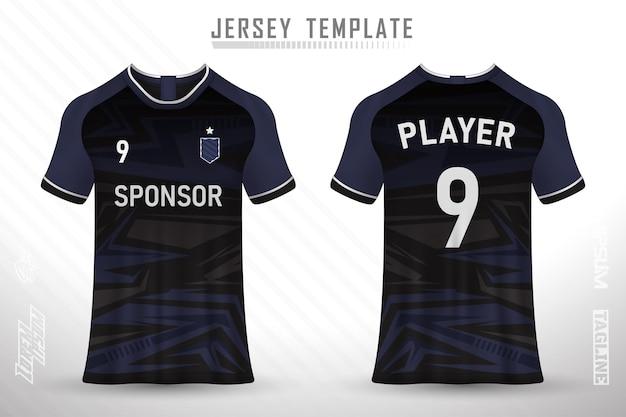 축구 경주 사이클링 게임 저지 벡터를 위한 전면 후면 티셔츠 디자인 스포츠 디자인
