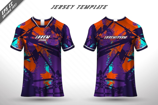 フロントバックtシャツデザインレーシングサイクリングゲーミングジャージベクトルのスポーツデザイン