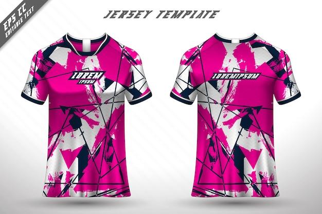 전면 후면 티셔츠 디자인 레이싱 사이클링 게임 저지 벡터를 위한 스포츠 디자인
