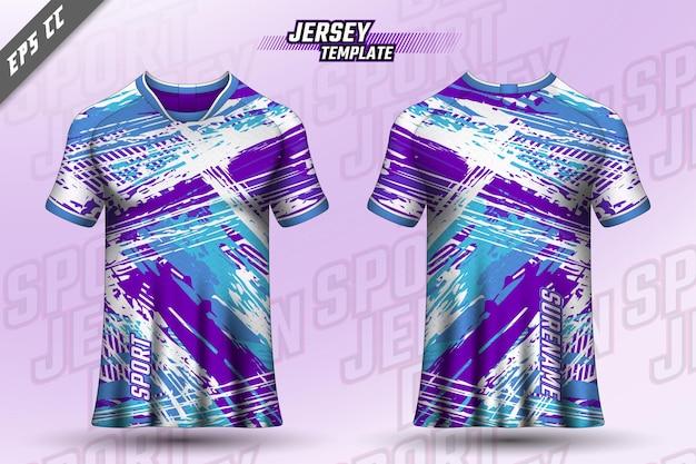 Дизайн футболки спереди сзади спортивный дизайн для гонок на велосипеде игровой джерси вектор