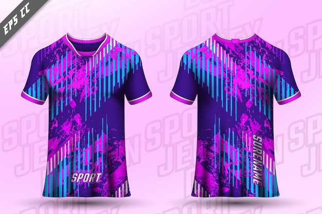 Front back tshirt design sports design for racing cycling gaming jersey vector