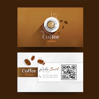 Front and back view of business card or visiting card design