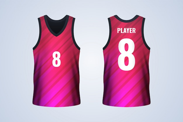 Front and back white basketball jersey template