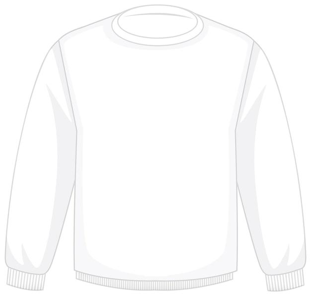 Front of basic white long sleeves isolated