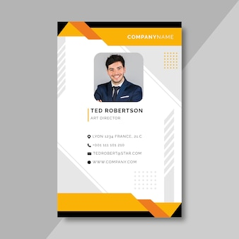Front business id card template