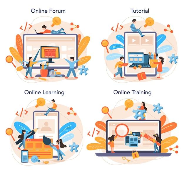 Front-end development online service or platform set
