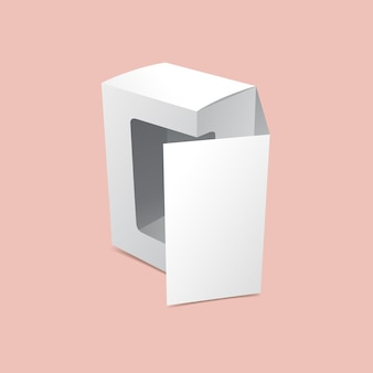 Передняя откидная упаковочная коробка, макет