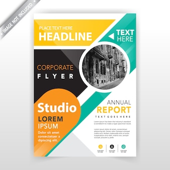 Front flyer cover template
