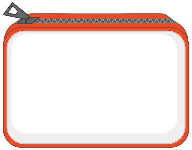分離されたジッパー付きの基本的なポーチバッグの前面