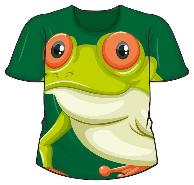 カエル柄のtシャツの前面