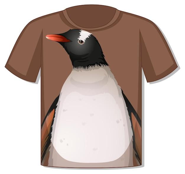 ペンギンのテンプレートとtシャツの前面