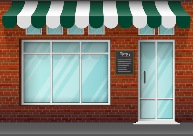 Front store building background