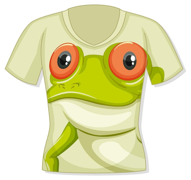 Front of t-shirt with frog pattern