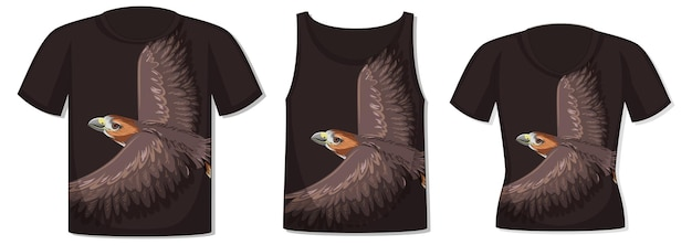 Front of t-shirt with hawk template