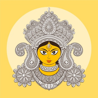 Front view avatar of navratri