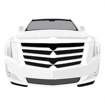 Front view car vector illustration