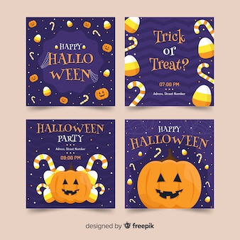Front view pumpkin halloween instagram stories collection