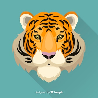 Front view tiger background