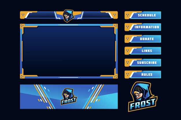 Frost gaming panel overlay