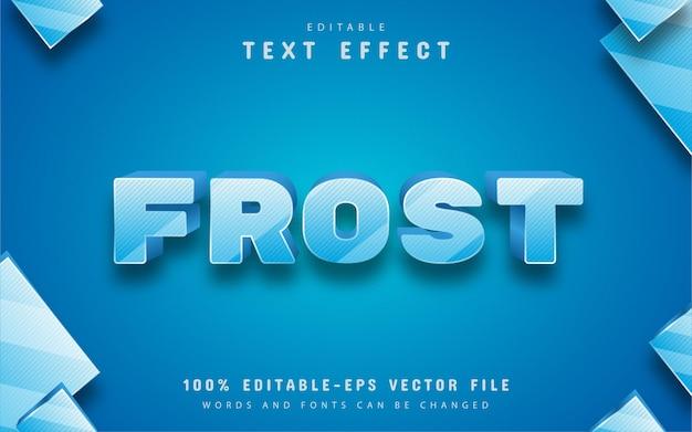Текстовый эффект мороза