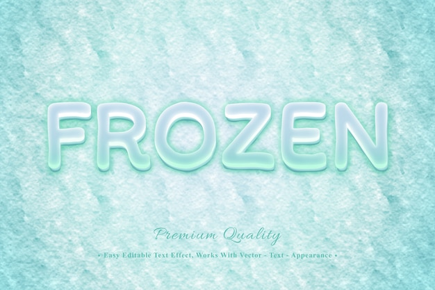 Frozen 3d легко редактируемый эффект шрифта