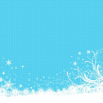 Frozen background in blue color