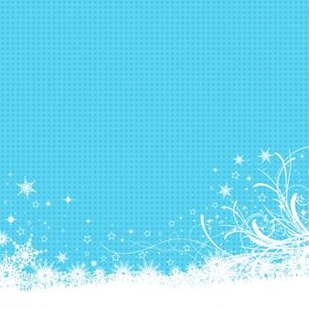 파란색으로 얼어 붙은 배경