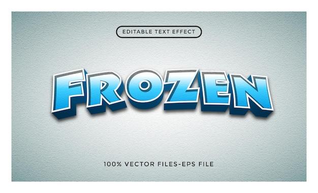 凍結された編集可能なテキスト効果プレミアムベクトル