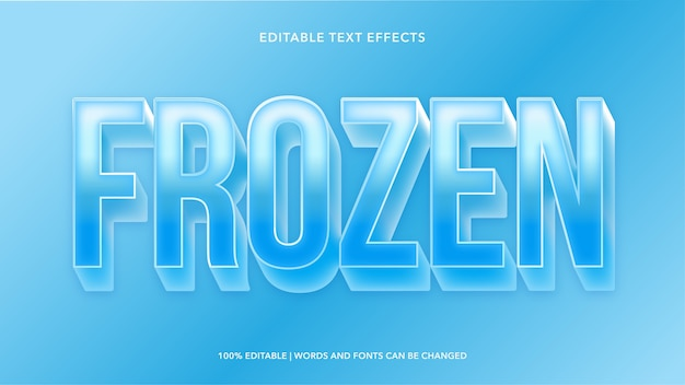 Frozen editable text effects