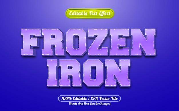 Frozen iron 3d редактируемый текстовый эффект стиль игры