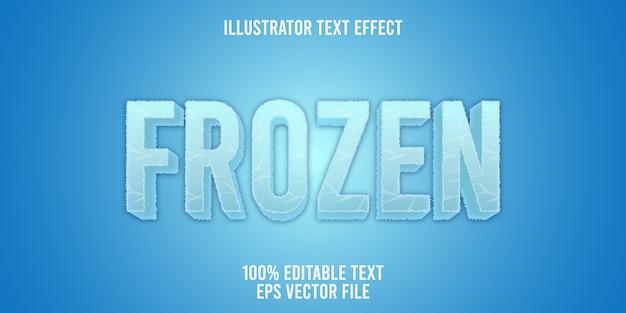 Редактируемый текстовый эффект frozen logo