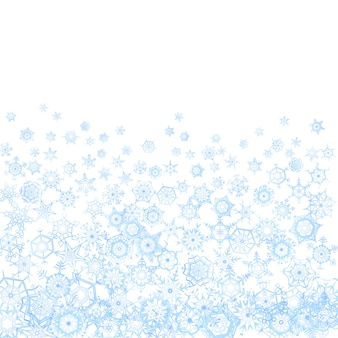 Frozen pattern with snowflakes on white