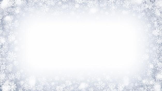 Рамка с эффектом замороженного снега и льда