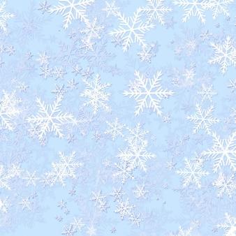 Frozen snowflake background