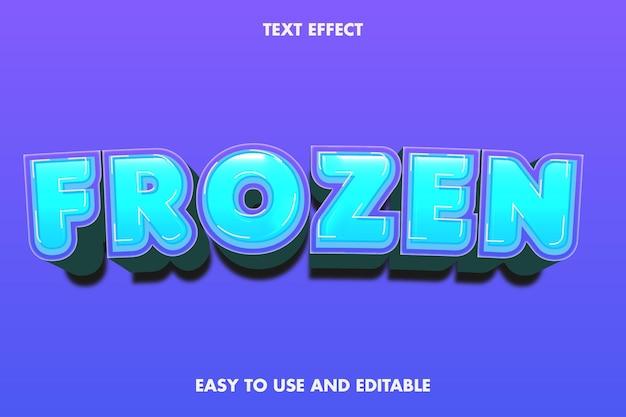 Frozen text effect. editable font.