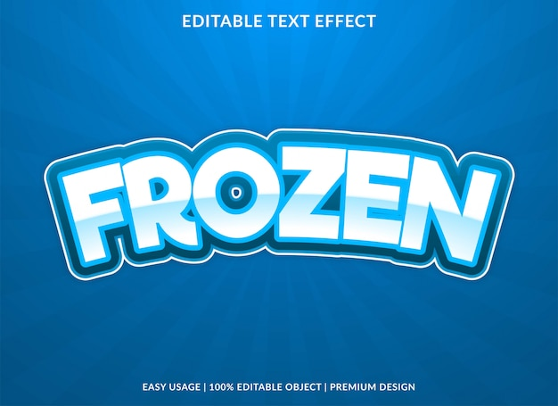 Frozen text effect with bold style