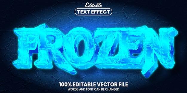 Frozen text, font style editable text effect