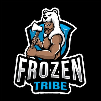Шаблон логотипа frozen tribe esport