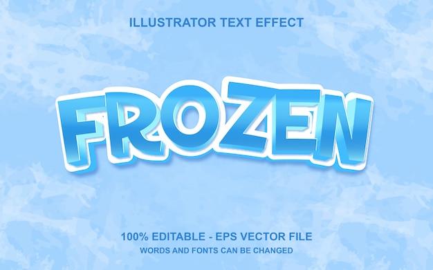 Редактируемый текстовый эффект frozen
