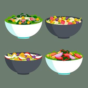 Концепция фруктов и салатницы