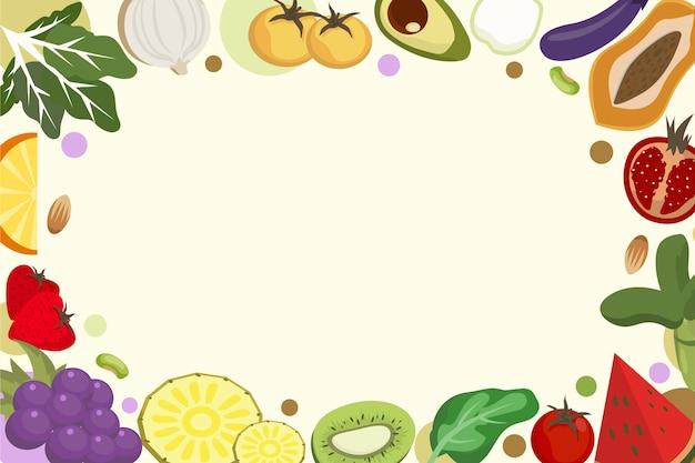 Фрукты и овощи дизайн фона