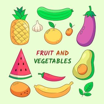 Фрукты и овощи фон