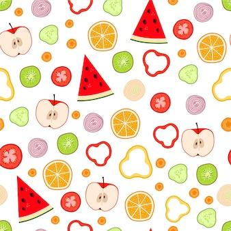 果物と野菜の背景
