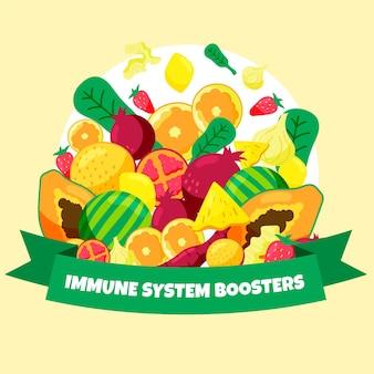 果物と野菜の免疫システムブースター