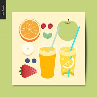 Fruit and berries  card