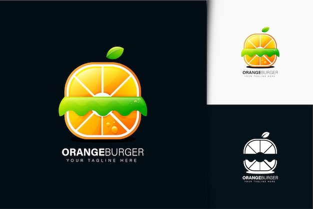 Fruit burger logo design with gradient