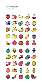 Fruit color illustration