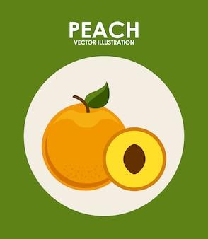 Fruit design over green background vector illustration